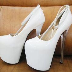 Women's Heels Stiletto Heel Round Toe Party PU Buckle Solid Colored Nude Red White 2021 - US $92.95