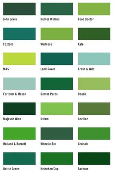 Shades Of Green Paint Amazing With Diffe Color Names Photos