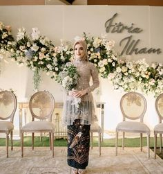 Kebaya Wedding, Muslimah Wedding Dress, Muslim Wedding Dresses, Hijab Bride, Wedding Hijab, Bridal Dresses, Wedding Gowns, Muslim Brides, Bouquet Wedding