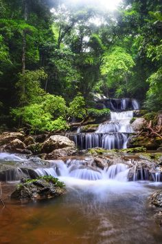 Designing tile panels with waterfall picture Aesthetic Photography Nature, Nature Photography, Beautiful Textures, Beautiful Landscapes, Waterfall Drawing, Nature Water, Beautiful Waterfalls, Beautiful Places To Visit, Nature Pictures