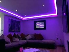 home decor ideas living room apartment best teen bedroom paint colors led strip lighting ideas man cave teen bedroom ideas blue led lights for bed mason jar centerpieces for home decor Neon Bedroom, Purple Bedrooms, Small Room Bedroom, Bedroom Decor, Bedroom Ideas, Modern Bedroom, Bedroom Ceiling, White Bedroom, Master Bedroom