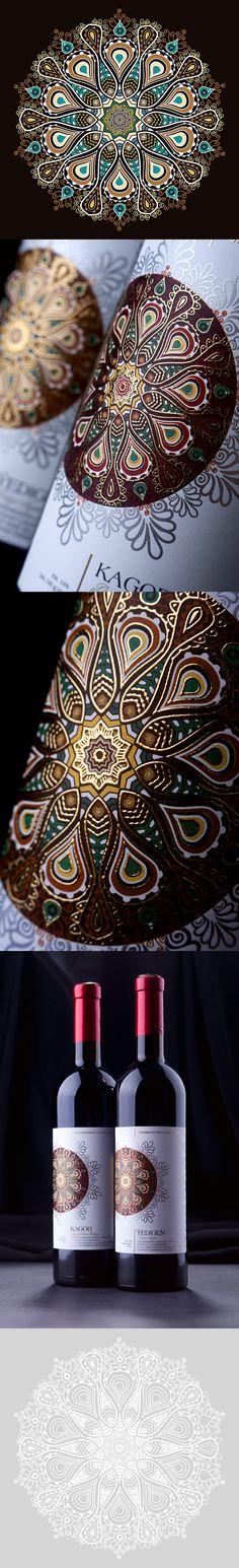 Mandala ornament for wine label design Wine Label Design, Whiskey Bottle, Mandala, Ornament, Products, Decorating, Mandalas, Ornaments, Beauty Products