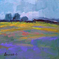 """""""The purple field"""" original fine art by salvatore greco"""