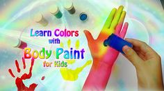 Colours learning by Body Painting Video for Children