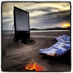MUST go to Movies at the Beach at Pier Marquette Beach in Muskegon, Michigan next summer!!!