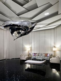 Regis Bal Harbour: For Discerning Travelers Indifferent to the South Beach Party Scene - Leading Hotels Online Dome Ceiling, Lobby Interior, Interior Work, Fine Hotels, Hotel Lobby, Ceiling Design, Ceiling Ideas, Modern Interior Design, Living Room Designs