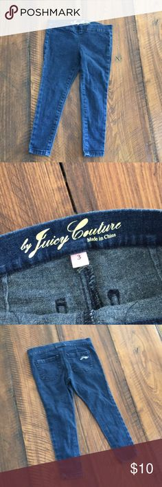 Juicy Couture girls size 3 Legging Juicy Couture girls size 3T jegging in good condition Juicy Couture Bottoms Jeans