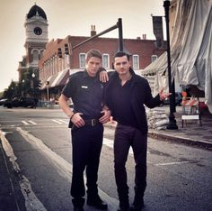 Zach Roerig and Michael Malarkey, they're so hot #tvds7