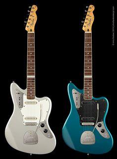 Guitar proposal for guitarist, Bill Frisell - modified, streamline Fender Jaguar Telecaster hybrid | Chris Ferebee, 2013 @fenderguitars #BillFrisell