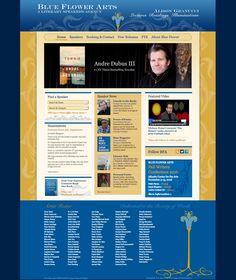 Blue Flower Arts Website Design