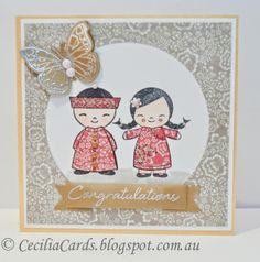 Cecilia's Cards: Chinese Wedding card with @My Mind's Eye inc @Hero Arts