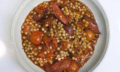 Nigel Slater's mograbia with tomato and chorizo