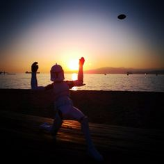 Clone Trooper playing football at the beach #sunset #StarWars