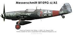 Messerschmitt Bf 109G-6/AS 1944 Friedrich-Karl Müller NJGr. 10