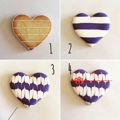 How to make Yabane cookie.  It's a Japanese pattern of arrow feather shapes.  4コマレシピ第5弾。  海外のフォロワーが増えてきたので和柄を作ってみました(ˊᵕˋ)  ①クッキーにアウトライン、ボーダー柄を引く  ②やわらかいアイシングで交互に塗りつぶす。ボーダーに高さを出すようにするとよい。  ③アイシングが乾かないうちにピックで上下交互に模様をつけて乾かす。  ④紐を書いてできあがり  #icingcookies#royalicing#sugardecoration#snoopy#instagood#instacookies#instafood#instasweet#kawaii#아이싱쿠키#曲奇#糖霜曲奇#Plätzchen#biscuit#galletadecoradas#biscoitosdecorados#edibleart #Japan#Japanese#kimono#Kyoto#일본#JaponInstagram web viewer online, You can find the…