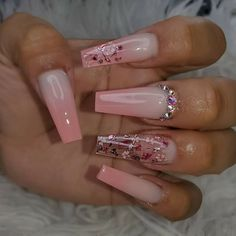 Likes, 21 Comments - Nail Inspo Bling Acrylic Nails, Simple Acrylic Nails, Aycrlic Nails, Best Acrylic Nails, Summer Acrylic Nails, Bling Nails, Swag Nails, Coffin Nails, Pink Coffin