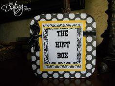 """Hint Box"" - My husband and I BOTH need one of these!"