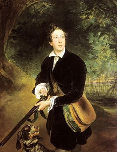 BRYULLOV Karl - Portrait of the poet and playwright Alexei Konstantinovich Tolstoy in his youth. 900 Classic russian paintings