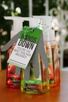Put a creative tag on soap or hand sanitizer!
