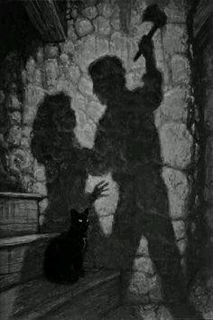  Hoje eu vou falar um pouco sobre o conto O Gato Preto de Edgar Allan Poe. Esse é um dos contos que eu mais gosto – pois gosto de todos – do Edgar Allan Poe, e hoje fiz um breve resumo…