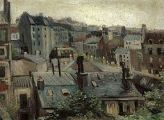 """""""Overlooking the Roofs in Paris,"""" 1886, by Vincent Van Gogh."""