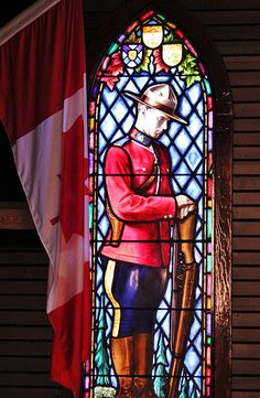 Chapel Window, Thank you for the RCMP that give and have died doing their duty to protect. Canadian Things, I Am Canadian, Canadian History, Canada Funny, Canada Eh, Mosaic Glass, Stained Glass, Glass Art, Police