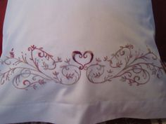 $40.00 Hand Embroidered Pillow Cases