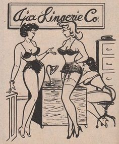 Cute - of course the employees of every Lingerie company come to work like this