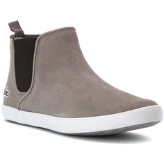 Lacoste Women's Ziane-Chelsea Boots (386038701) ($95) ❤ liked on Polyvore featuring shoes, boots, ankle booties, lacoste, chelsea ankle boots, lacoste boots, chelsea bootie and beatle boots