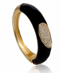 Gold & More Shining Stars  Black Bangle #kada #bangle