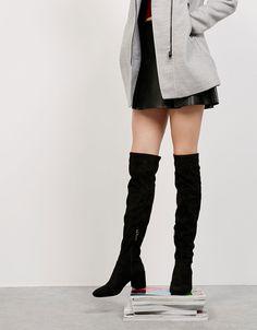 Mid heel tall boots. W69,000 Bershka