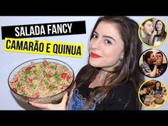 Receita sem glúten e deliciosa! Salada de Camarão e Quinua