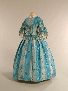 Dress, 1858 civil war era fashion