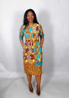 NEW IN mixed print African fitted dresshandmadeAfrican African Dresses For Women, African Print Dresses, African Wear, African Women, African Prints, African Style, African Fashion Designers, African Print Fashion, Fashion Prints