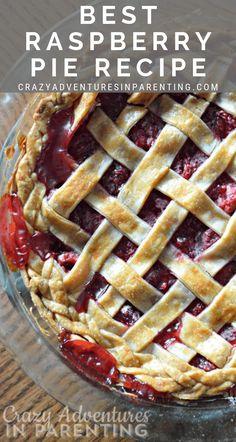 Most Heavenly, Easiest Raspberry Pie Recipe EVER! Most Heavenly, Easiest Raspberry Pie Recipe EVER!,Party Food The Most Heavenly, Easiest Raspberry Pie Recipe EVER! Easy Raspberry Pie Recipe, Raspberry Cheesecake Bars, Raspberry Desserts, Chocolate Raspberry Cake, Just Desserts, Dessert Recipes, Rasberry Pie, Raspberry Hair, Raspberry Plants