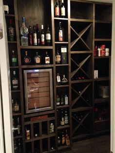 Wine room / Pantry . Custom wineador (wine fridge cigar humidor)