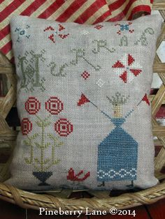 Hurrah Sampler Pillow PATTERN - NEED THIS STAT!!!!