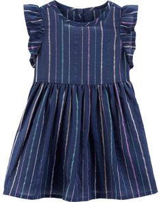 Toddler Girl Rainbow Stripe Dress from OshKosh B'gosh. Shop clothing & accessories from a trusted name in kids, toddlers, and baby clothes. Newborn Girl Outfits, Baby Girl Dresses, Kids Outfits, Baby Gap Girl, Carters Baby Boys, Funny Baby Clothes, Babies Clothes, Babies Stuff, Kid Stuff