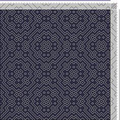 Hand Weaving Draft: Threading Draft from Divisional Profile, Tieup: Crackle Design Project, Draft #13476, Threading: Weber Kunst und Bild Bu...: