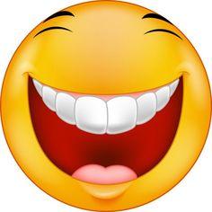 Riant smiley dessin animé — Illustration Smiley Emoticon, Emoticon Faces, Funny Emoji Faces, Funny Emoticons, Silly Faces, Cartoon Faces, Happy Emoticon, Images Emoji, Emoji Pictures