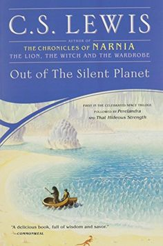 Out of the Silent Planet (Space Trilogy) by C.S. Lewis http://www.amazon.com/dp/0743234901/ref=cm_sw_r_pi_dp_5lv2ub0EC8PCG