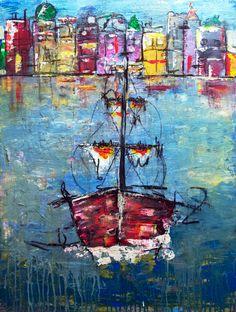 Elbe - Acryl on Canvas