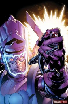Galactus vs Spider-Man.