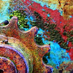 A Rusty Rainbow - i love this it's so surreal