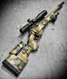 The TMR Tactical Match Rifle with glass. Military Weapons, Weapons Guns, Airsoft Guns, Guns And Ammo, Tactical Rifles, Firearms, Sniper Rifles, Tactical Survival, Armas Airsoft