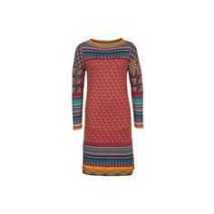 Cheap Knitted Dresses | Sale on ZALANDO.CO.UK ❤ liked on Polyvore featuring dresses and red dress