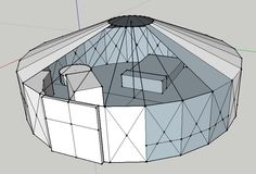 """""""Dreaming of a round house""""   #yurt #yurtdesign #alternativeliving #freedom #happiness"""