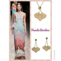 www.sophiejuliete.com.br/estilista nandabordon  Maison Valentino, inspiracao, semi joias, acessorios, monarca, brinco e colar banhados a ouro