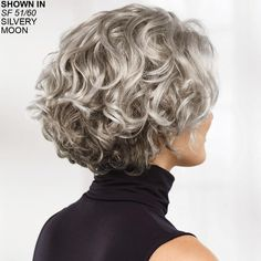 Meryl WhisperLite® wig by Paula Young® - no longer dye gray hair! - Haaar - Meryl WhisperLite® wig by Paula Young® – no longer dye gray hair! Grey Curly Hair, Curly Hair Cuts, Curly Bob Hairstyles, Short Curly Hair, Short Hair Cuts, Easy Hairstyles, Curly Hair Styles, 4b Hair, Hairstyles 2018