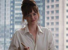 "Dakota Johnson in Fifty Shades of Grey, 2015 - ""Throughout the entire Fifty Shades of Grey movie, I couldn't stop thinking about Dakota Johnson's bangs."" —Jenna Rennert, Vogue.com Beauty Assistant"